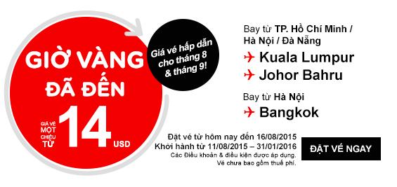 Mua vé máy bay Air Asia giá rẻ tại Vietnam Booking