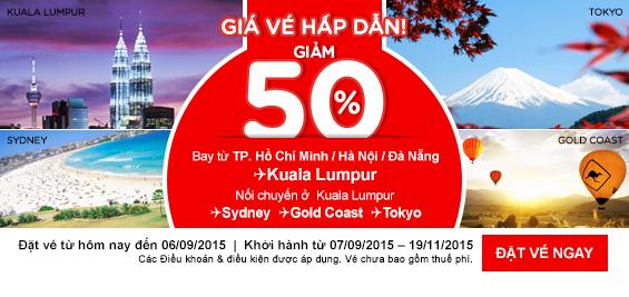 Vé máy bay hãng Air Asia khuyến mãi giá rẻ nhất