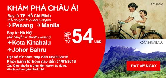 Mua vé máy bay Air Asia giá rẻ nhất tại Vietnam Booking