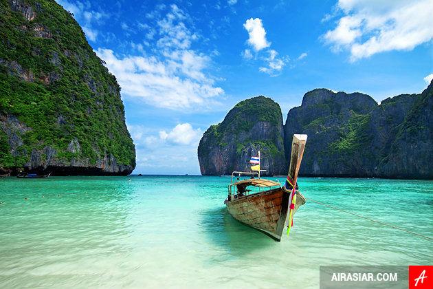 mua vé máy bay đi Phuket giá rẻ ghé thăm Vịnh Phang Nga