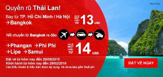 Mua vé máy bay giá rẻ nhất hãng Air Asia