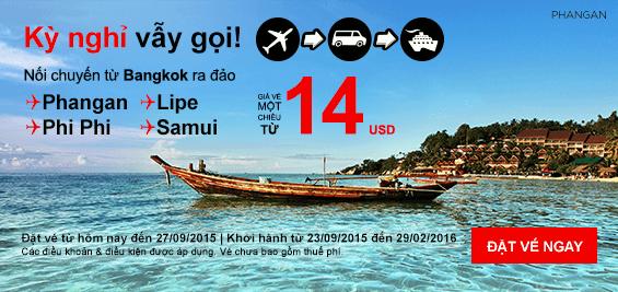 Đặt mua vé máy bay rẻ nhất hãng Air Asia