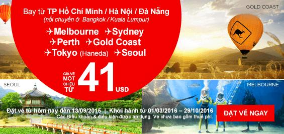 Đặt vé máy bay Air Asia tại Vietnam Booking