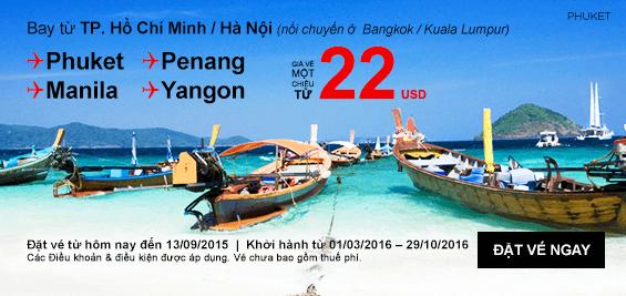 Vé máy bay Air Asia tại Vietnam Booking