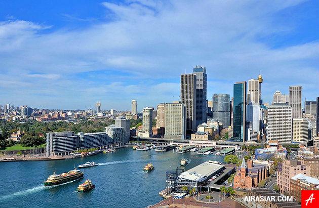 Đặt mua vé máy bay giá rẻ hãng Air Asia đi Sydney
