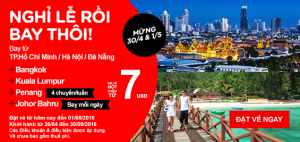 AirAsia khuyến mãi lớn chào mừng Lễ 30/4 và 1/5