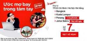 Khuyến mãi AirAsia: Thỏa sức vi vu hè cùng vé giá 7 USD