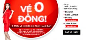 Cực sốc với khuyến mãi 3 triệu vé 0 đồng của AirAsia