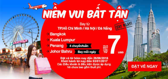 dat ve may bay khuyen mai airasia