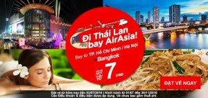 Khuyến mãi AirAsia – Hành trình $7 cho các chuyến đi Châu Á