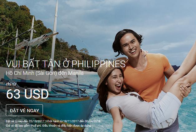vé máy bay khuyến mãi đi Philippines