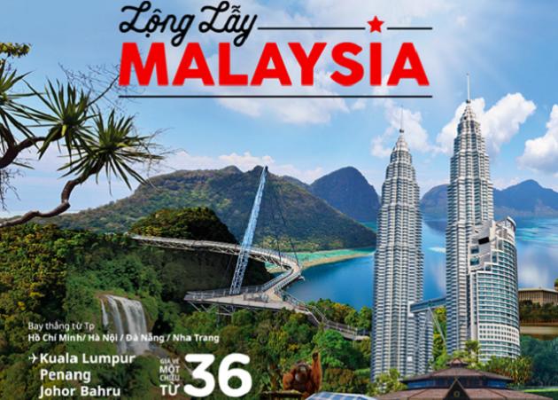 vé máy bay khuyến mãi đi Malaysia