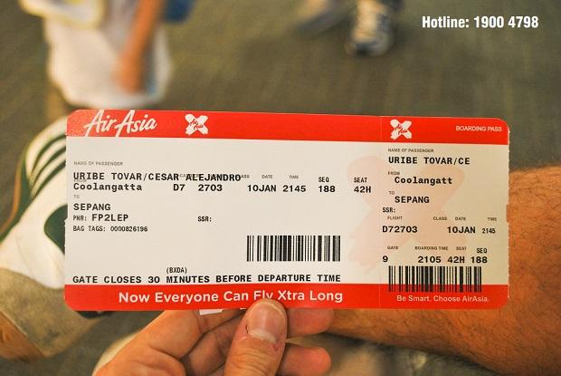đổi vé máy bay air asia đơn giản