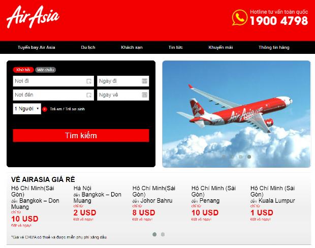 săn vé rẻ Air Asia