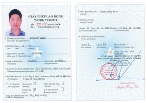 Người nước ngoài xin giấy phép lao động lần đầu