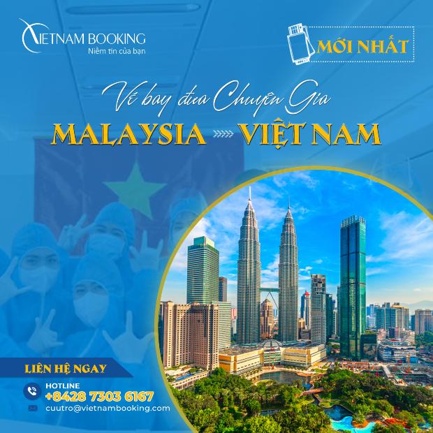 vé máy bay từ malaysia đến việt nam