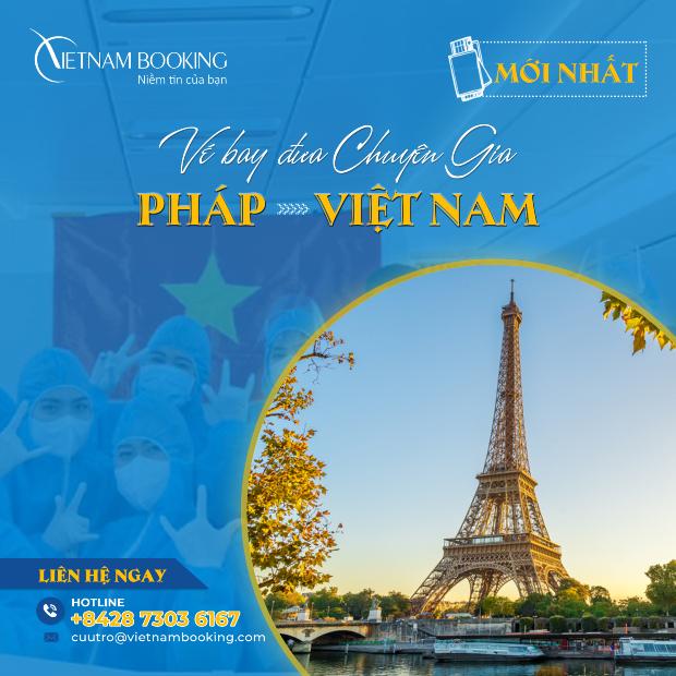 Vé máy bay đưa chuyên gia Pháp về Việt Nam