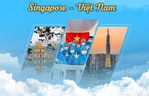 Các chuyến bay từ Singapore về Việt Nam tháng 3/2021