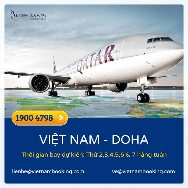 Vé máy bay từ Việt Nam đi Doha
